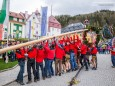 Traditionelles Maibaumaufstellen in Mariazell am 1. Mai 2015