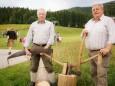 Gerhard Kleinhofer und Otto Fluch - Maibaumumschneiden und 15 Jahre Schulverkehrsgarten - Geselliger Abend in St. Sebastian am 29. August 2014