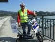 Donau Ybbs-Persenbeug - Vom Kirchturm zum Eiffelturm - Wolfram Doberer unterwegs von Mariazell nach Paris mit dem E-Bikeboard