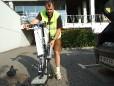 Bikeboard Zusammenbau am Morgen