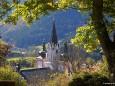 Blick auf die Mariazeller Basilika am Weg auf die Bürgeralpe