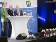 Landesrat Dr. Stephan Pernkopf, Moderator Andy Marek,  NÖVOG Geschäftsführer Dr. Gerhard Stindl - Tag der Mariazellerbahn in Laubenbachmühle am 16.11.2014