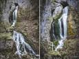 Naturdenkmal Wasserfall Totes Weib am  6. Mai 2021
