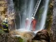 Marienwasserfall - Marienstatue Befestigung durch die FF Mariazell am 30. Juni 2014