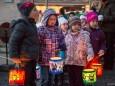Martinsfeier der Kindergartenkinder mit Laternenumzug zur Basilika in Mariazell am 9. November 2012