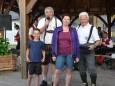 Mitterbach startete in den Sommer-Glücksengerl Manuel Büchinger, Moderator Reini Weber, Gewinnerin Petra Leodolter, Losverkäufer Franz Scheidinger