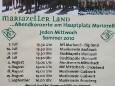 Abendkonzert Musikverein Aschbach am Hauptplatz in Mariazell