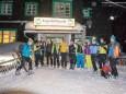 Ein Begrüssungsstamperl vorm Berghotel - SportRedia-Dynafit Nachtspektakel am 2. Februar 2015