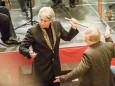 Stadtpfarrer Dr. Michael Staberl hilft beim Orchester aus - Mariazeller Neujahrskonzert 2015 mit dem Johann Strauß Ensemble unter der Leitung von Russell McGregor