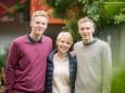 Paul, Katharina und Klaus Ofner - Vernissage & Jazz bei der Holzwerkstatt in Halltal
