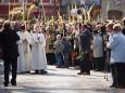 Palmsonntag 2009 Einzug in die Basilika Mariazell mit Palmzweigen aus Spanien und Palmbuschen
