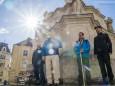 Dr. Ferenc Reisner, Ivanics Ferenc, a Fertô-táj Világörökség Egyesület elnöke, Johann Kleinhofer, Andras Vissi -Pilgerwanderung Mariazell - Ungarn in Sopron