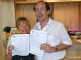 Marion Plott und Harald Schweighofer vom Kirchenwirt in Mariazell. Sehr fleissige Stimmensammler für Mariazell bei der Platzwahl 2010.