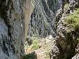 Geschafft - Blick zurück in den Rotmäuer Aufstieg - Brunnsee auf die Riegerin - Bergtour - 3.Juli 2014