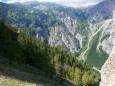 Blick zurück beim Einstieg in den Rotmäuer Steig - Brunnsee auf die Riegerin - Bergtour - 3.Juli 2014