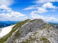 Der Grat zum Ringkamp Gipfelkreuz (ganz hinten) - Ringkamp über Seeleiten und Aflenzer Staritzen