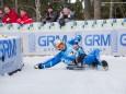 Russischer Doppelsitzer, die Bronzemedaille Gewinner - Naturbahn Rodel WM 2015 im Mariazellerland - Doppelsitzer Bewerb
