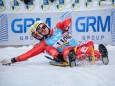 Italienischer Doppelsitzer - die Goldmedaille Gewinner - Naturbahn Rodel WM 2015 im Mariazellerland - Doppelsitzer Bewerb
