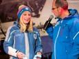 Teilnehmerin Slowenien - Naturbahn-Rodel WM 2015 im Mariazellerland - Eröffnungsfeier.