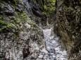 Weiter gehts durch ein wildromantisches Bachbett - Roßlochklamm zwischen Frein und Mürzsteg