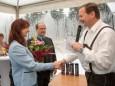Brigitte Pollerus-Ullreich mit Albert Pollerus und Robert Karner - RR-Residenzen in Mitterbach - Eröffnungsfeier