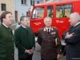 Franz Voves, Michael Miggitsch, Albert Kern, Hermann Schützenhöfer (vlnr.) - Feuerwehr Mariazell Rüsthaus Segnung - Festakt am 5. Mai 2012