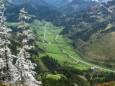 Blick hinunter nach Fallenstein  - Sauwand (1420 m) – Rundwanderung im Mariazellerland