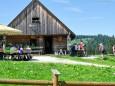 die Feldwiesalmhütte ist erreicht...Mariazeller Sonntagberg Wallfahrt von 4. - 6. Juli 2015