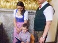 Liedertafelobmann Ochsenwirt Alexander Plaschke mit Familie.Mariazeller Sonntagberg Wallfahrt von 4. - 6. Juli 2015
