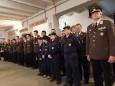 Spatenstich für den Rüsthaus Um- und Zubau in Mariazell - Mannschaft unter Bezirksfeuerwehrkommandant Reinhard Leichfried
