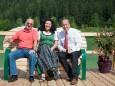 Steirerbankerl am Erlaufsee - v.l. Manfred Seebacher, Liane Schrittwieser, Josef Kuss