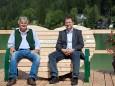 Steirerbankerl am Erlaufsee - v.l. Wolfgang Schrittwieser und Richard Höllerer ÖBF