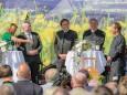 Sigrid Maurer,  Bgm. Michael Häupl, LH Franz Voves, LH Stellv. Hermann Schützenhöfer, Steiermark Tourismus - GF Erich Neuhold - Steiermark Frühling 2015 in Wien am Rathausplatz