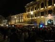 Die Promenade in Linz am Abend - Menschenmassen