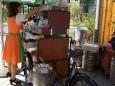 Sabine mit Mariazeller Kaffee beim Steirisch Anbandeln in Linz 2012