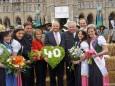 Steirerfest in Wien 2012 - LH Franz Voves, LH Stellv. Hermann Schützenhöfer & Landtagspräsident Harry Kopietz mit Blumenhoheiten
