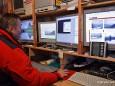 Günther Eder vor den Sternwarte Computern