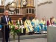 Festgottesdienst mit Abt Benedikt Plank zur Amtseinführung des neuen Superior P. Mag. Dr. Michael Staberl und des neuen Stadtpfarrers von Mariazell und Gußwerk P. Mag. Christoph Pecolt. Foto: Josef Kuss