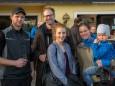 Paul Größbacher, Siegfried Größbacher mit Tochter Leni, Monika Enne mit Junior - Eröffnung Talstation der Gemeindealpe Mitterbach am 10. Jänner 2015