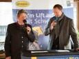 Bgm. Alfred Hinterecker mit Fritz Lengauer - Eröffnung Talstation der Gemeindealpe Mitterbach am 10. Jänner 2015
