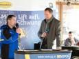 Betriebsleiter Andreas Markusich und Fritz Lengauer - Eröffnung Talstation der Gemeindealpe Mitterbach am 10. Jänner 2015