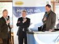 NÖVOG GF Gerhard Stindl, Landtagsabgeordneter Karl Bader & Fritz Lengauer - Eröffnung Talstation der Gemeindealpe Mitterbach am 10. Jänner 2015