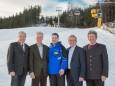 Josef Kuss, Gerhard Stindl, Andreas Markusich, Karl Bader, Alfred Hinterecker - Eröffnung Talstation der Gemeindealpe Mitterbach am 10. Jänner 2015