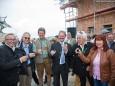 Bader, Stindl, Hinterecker, Wilfing, Edelbacher mit Gattin - Terzerhaus NEU Gleichenfeier