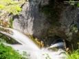 Blick vom Weg hinunter - Wanderung zum Trefflingfall im Naturpark Ötscher-Tormäuer