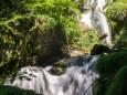 Blick hinauf zur Bücke (ganz oben) - Wanderung zum Trefflingfall im Naturpark Ötscher-Tormäuer