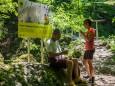 Am Fuße des Trefflingfalls - Wanderung zum Trefflingfall im Naturpark Ötscher-Tormäuer