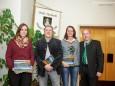 Karin Papst (Stadtkapelle), Toni Scherer (Theatergemeinschaft), Ulrike Schweiger (Kulturverein KOMM), Bgm. Josef Kuss