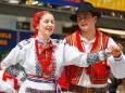 Volkstanz-Folklore Gruppen aus Rumänien und Kroatien in Mariazell.