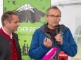 Mostviertel Tourismus-Geschäftsführer Andreas Purt & GF Landesausstellung Kurt Farasin - Schutzhaus Vorderötscher Eröffnung durch Landeshauptmann Erwin Pröll
